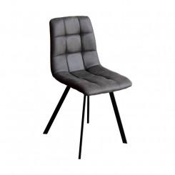 Jídelní židle OSLO šedé mikrovlákno Oslo Jídelní židle 4094