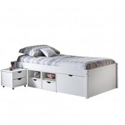 Multifunkční postel ELISABETH 90x200 bílý lak Postele ID20900160