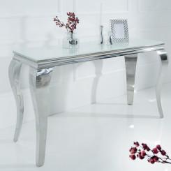 Konzolový stůl modern Barock - Bílé Stříbro Modern Barock Odkládací stolky KMBB-37905