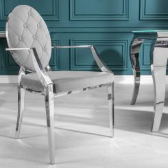 Židle Modern Barock - Šedá s opěradli Modern Barock Jídelní židle OSB-38343