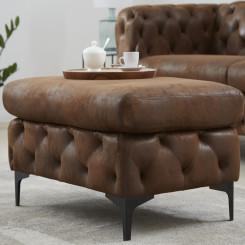 Stolička Modern Barock - Hnědá Modern Barock Taburety a podnožky HND-40466