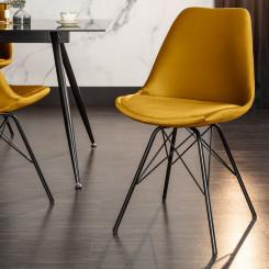 Retro židle Jimena - Žlutá Jimena Křesla ZLR-40026